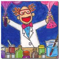 A Very Good Day on the Battle Front_Cartoon_Mad Scientist_Celebrating