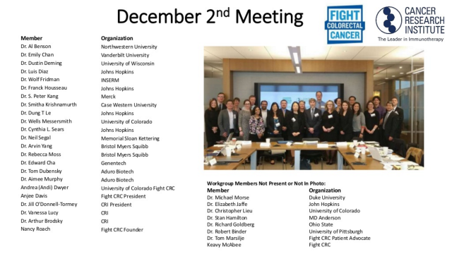 Fight CRC-CRI Expert Roundtable for CCR-IO_FULL Participants Photo