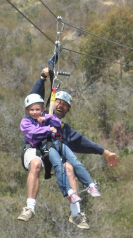 2013-06_Fathers Day_Catalina Island_Dad and Amelie Zipline_2-cropped