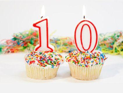 10th Birthday Cupcake