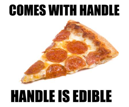 pizza comes with handle